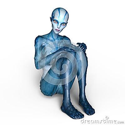 Free Female Alien Stock Images - 96059524