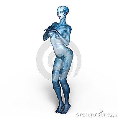 Free Female Alien Royalty Free Stock Image - 96059536