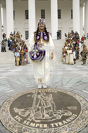 Female American Indian Editorial Photography