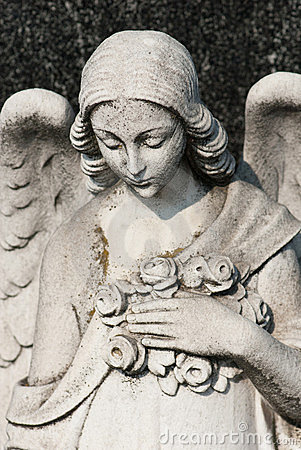 Female angel sculpture