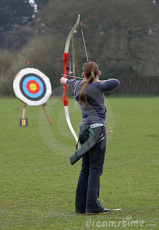 Free Female Archer Sport Target Stock Photos - 98053