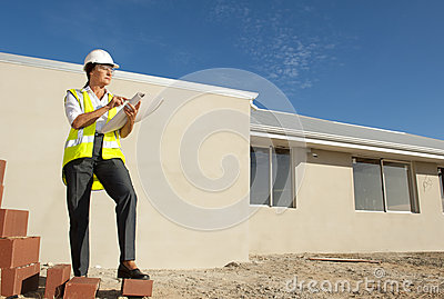 Female Architect construction site