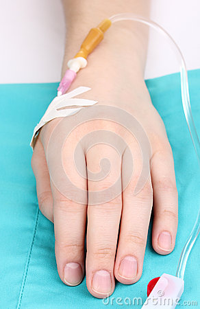 Female arm with infusion