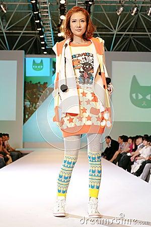 Female asia model at a fashion show Editorial Photo