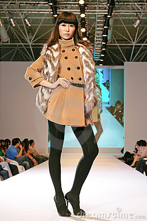 Female asia model at a fashion show Editorial Stock Image