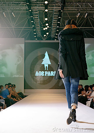 Female asia model at a fashion show Editorial Stock Photo