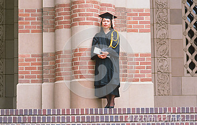 A female Asian-American UCLA graduate Editorial Photography