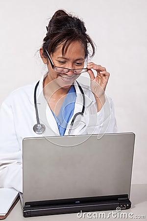 Female asian thirties doctor nurse