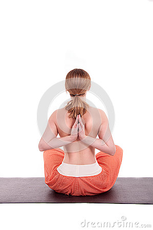 Female athlete posing