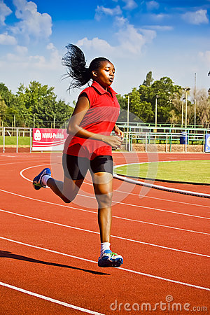 Female Athlete Running Editorial Image