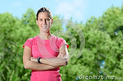 Female athlete success confident