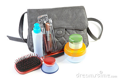 Female bag and cosmetics