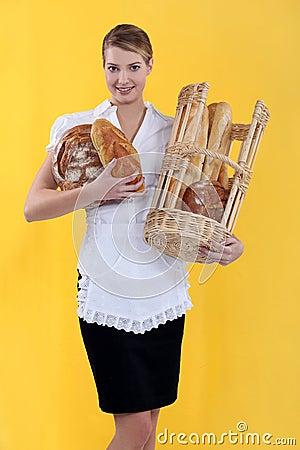 A female baker.