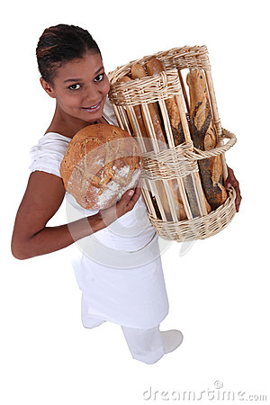 Female bakery worker