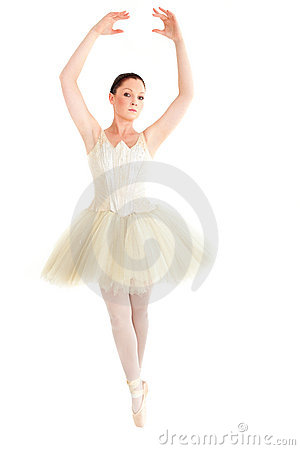 Female ballet dancer dancing