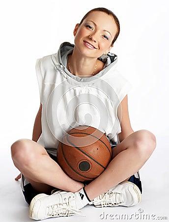 Free Female Basket Ball Player Stock Photos - 5244333