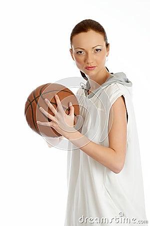 Free Female Basket Ball Player Stock Photos - 5244563