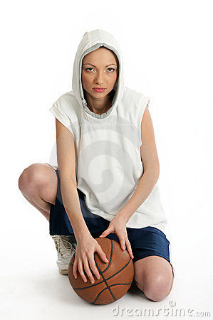 Free Female Basket Ball Player Royalty Free Stock Image - 5244576