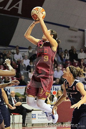 Female Basket players in action Editorial Stock Image