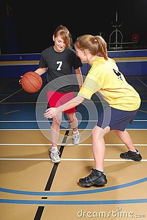 Free Female Basketball Players Royalty Free Stock Photo - 6050675