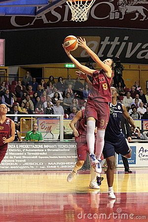 Free Female Basketball Players In Action Stock Photography - 13852352