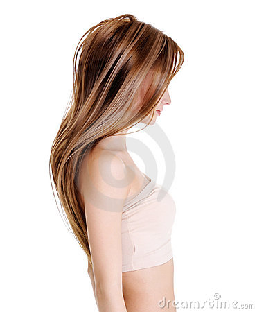 Female with beauty straight hairs