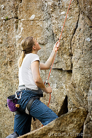 Female Belayer