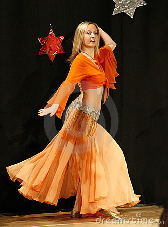 Female belly dancer