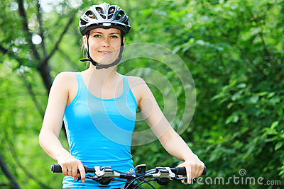 Female biker in