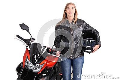 Female biker
