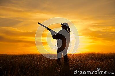 Bird Hunter in Sunset