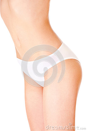 Female body in underwear