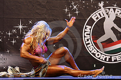 Female bodybuilder Editorial Stock Photo