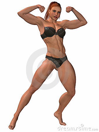 Female Bodybuilder Pose