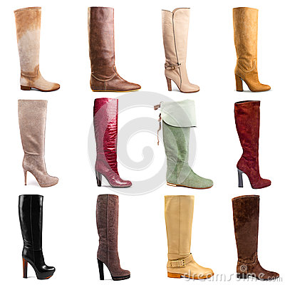 Free Female Boots Collection Royalty Free Stock Photos - 34542838