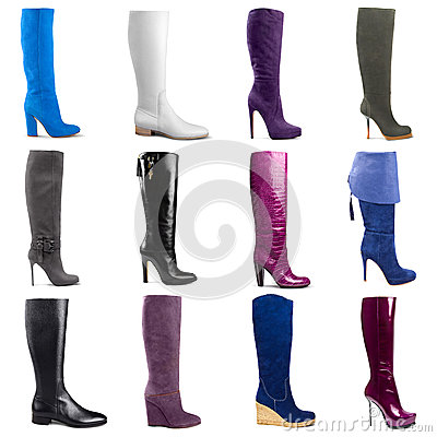 Free Female Boots Collection Royalty Free Stock Photo - 34966505