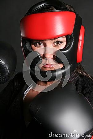 Free Female Boxer Head Shot Stock Photo - 18928260