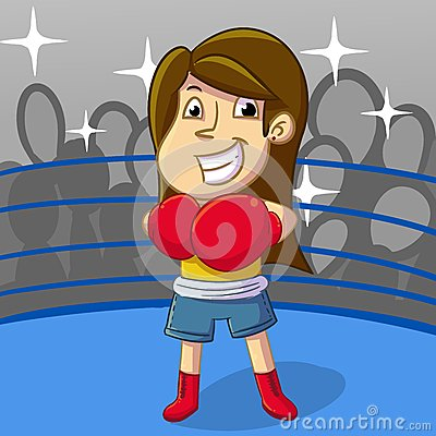 Free Female Boxing Sport Royalty Free Stock Image - 53169836