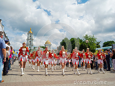 Female Brass Band performing Editorial Photo