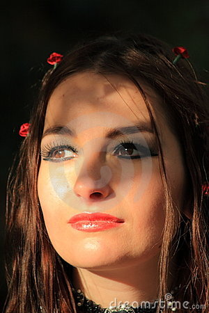 Female brunette gothic portrait