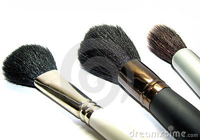 Female brushes for a make-up