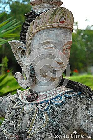 Female Buddhist Spirit. Surat Thani Temple, Thailand.