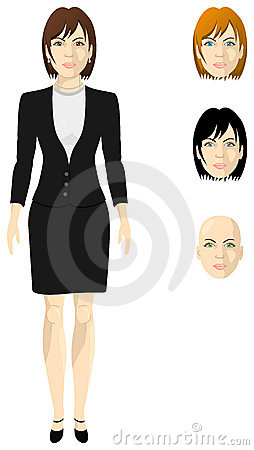 Female businesswoman in a black shingle