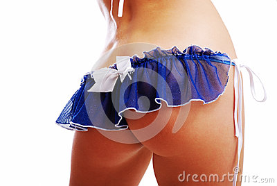Female buttocks in the erotic lingerie.
