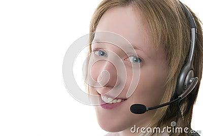 Female call centre operative