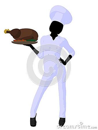 Female Chef Art Illustration Silhouette Royalty Free Stock ...