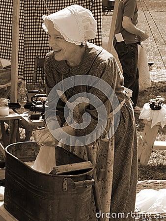 Female Civil War Reenactor Editorial Image