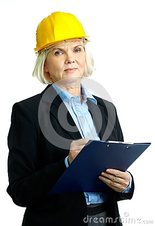 Female with clipboard
