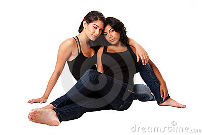 Female couple sitting together
