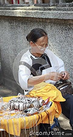 female craftsman Editorial Image